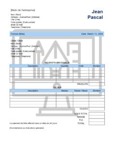 Modele facture pour un concepteur grafique gratuit à télécharger