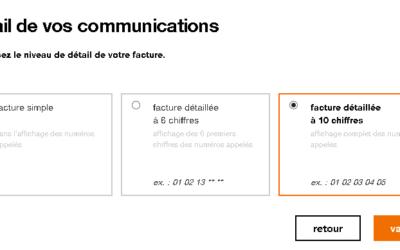 Comment récupérer une facture détaillée orange ?